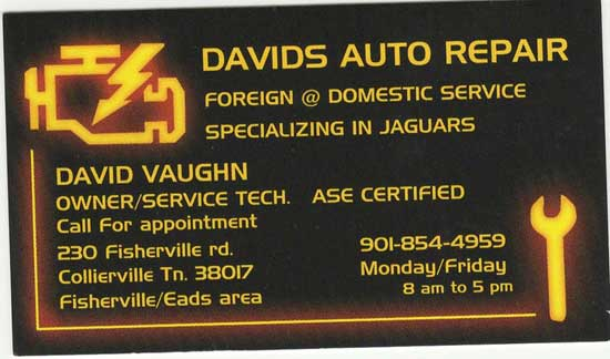 David Vaughn Is A Retired Jaguar Mechanic (from Bluff City) Who Does  Repairs At His Home: